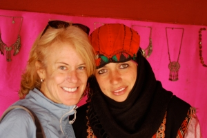 Meeting new friends in Jordan